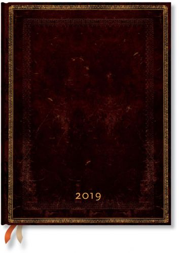 Paperblanks Black Moroccan Ultra | Week-at-a-Time 2019 Diary HOR (RARE)