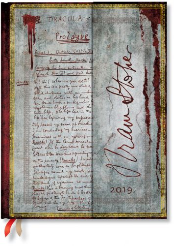 Paperblanks Bram Stoker Dracula Ultra | Week-at-a-Time 2019 Diary HOR (NEW)