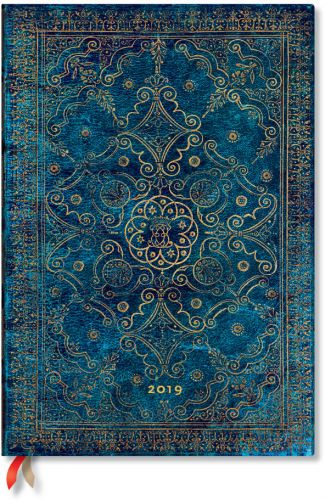 Paperblanks Azure Grande | Week-at-a-Time 2019 Diary VER (NEW).