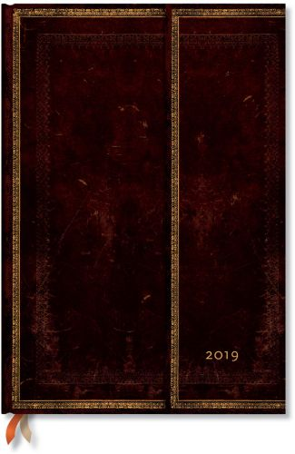 Paperblanks Black Moroccan Grande | Week-at-a-Time 2019 Diary VER (OOS)