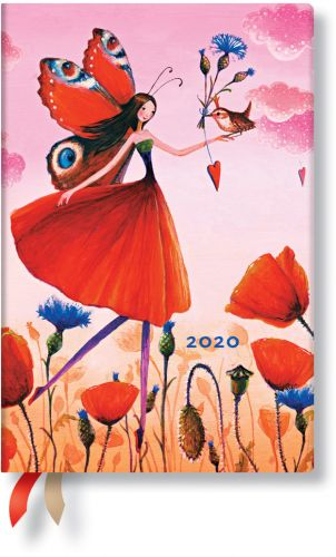 Paperblanks Poppy Field Mini | Week-at-a-Time 2020 Diary HOR