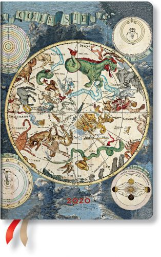 Paperblanks Celestial Planisphere Midi | Day-at-a-Time 2020 Diary (NOTE: 2020)