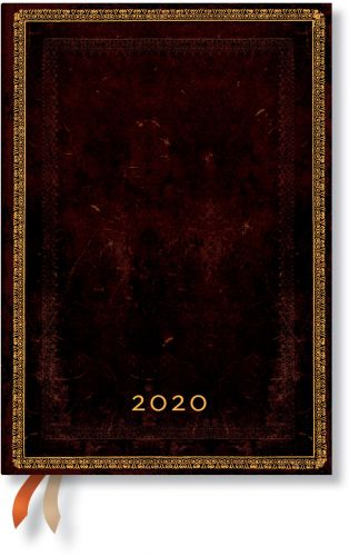 Paperblanks Black Moroccan Midi   Week-at-a-Time 2020 Diary VSO
