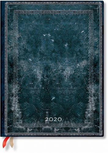 Paperblanks Midnight Steel Ultra | Day-at-a-Time 2020 Diary (NEW) (RESTOCKED)