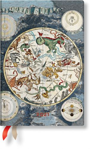 Paperblanks Celestial Planisphere Mini | Day-at-a-Time 2021 Diary (NEW)