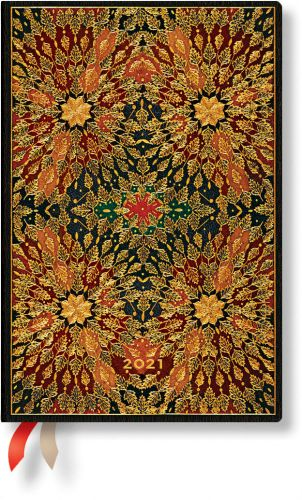 Paperblanks Fire Flowers Mini | Week-at-a-Time 2021 Diary HOR (NEW)
