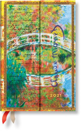 Paperblanks Monet (Bridge) Mini | Week-at-a-Time 2021 Diary HOR