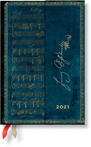 Paperblanks Schubert Mini | Week-at-a-Time 2021 Diary HOR
