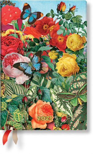 Paperblanks Butterfly Garden Mini | Week-at-a-Time 2021 Diary VSO (NEW)