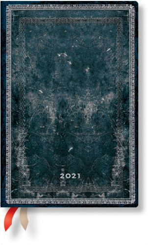 Paperblanks Midnight Steel Mini | Week-at-a-Time 2021 Diary VSO (NEW)