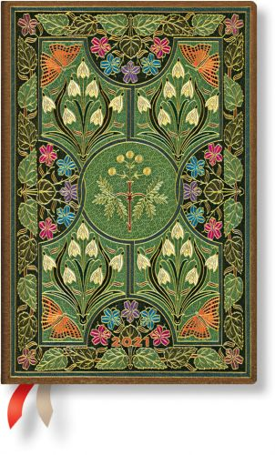 Paperblanks Poetry in Bloom Mini | Week-at-a-Time 2021 Diary VSO (RARE)