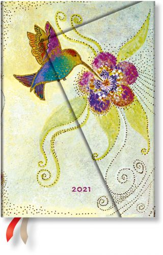 Paperblanks Hummingbird Midi | Day-at-a-Time 2021 Diary