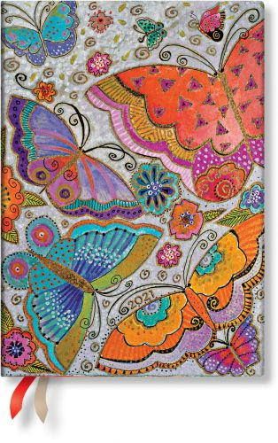 Paperblanks Flutterbyes Midi | Week-at-a-Time 2021 Diary VER (RARE)