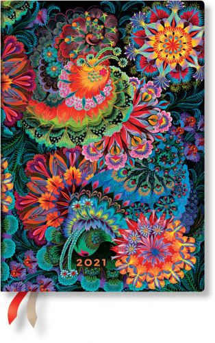 Paperblanks Moonlight Midi | Week-at-a-Time 2021 Diary VER (NEW) (RARE)