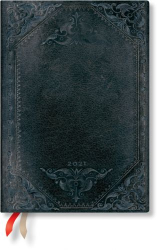 Paperblanks Midnight Rebel Bold Midi   Week-at-a-Time 2021 Diary VSO
