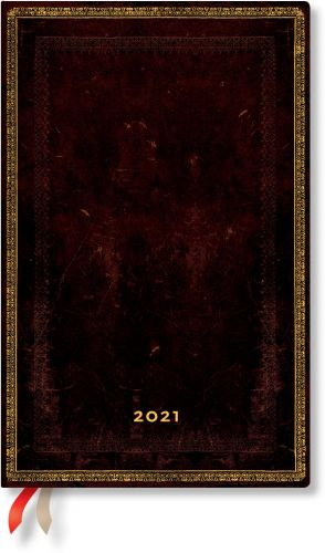 Paperblanks Black Moroccan Maxi   Week-at-a-Time 2021 Diary VER