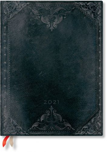 Paperblanks Midnight Rebel Bold Ultra | Day-at-a-Time 2021 Diary
