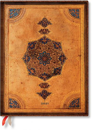 Paperblanks Safavid Ultra   Day-at-a-Time 2021 Diary (PRE-ORDER)