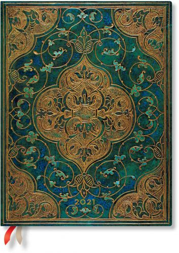 Paperblanks Turquoise Chronicles Ultra | Week-at-a-Time 2021 Diary HOR (NEW) (PRE-ORDER) (RARE)