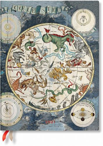 Paperblanks Celestial Planisphere Ultra   Week-at-a-Time 2021 Diary VER (PRE-ORDER)