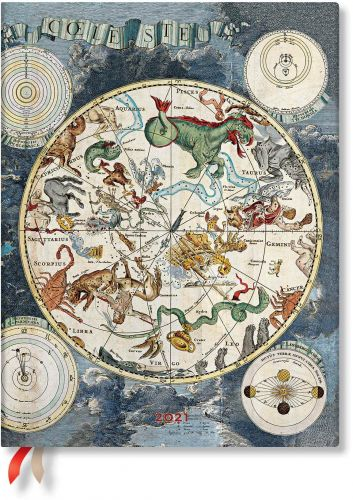 Paperblanks Celestial Planisphere Ultra | Week-at-a-Time 2021 Diary VSO (PRE-ORDER)