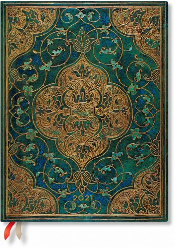 Paperblanks Turquoise Chronicles Ultra | Week-at-a-Time 2021 Diary VSO (NEW) (PRE-ORDER)