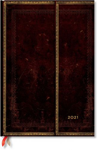 Paperblanks Black Moroccan Grande | Week-at-a-Time 2021 Diary VER (NEW) (PRE-ORDER)