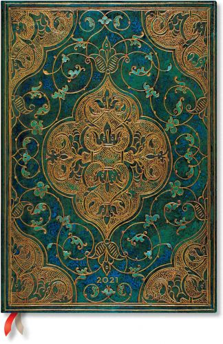Paperblanks Turquoise Chronicles Grande | Week-at-a-Time 2021 Diary VER (NEW) (PRE-ORDER)