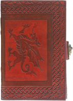 Welsh Dragon Side Clasp Large Journal #2