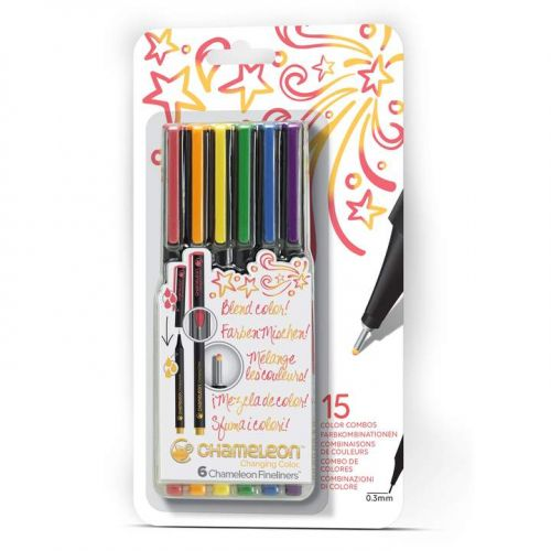 Chameleon Fineliners 6 pack Primary Colours (NEW)