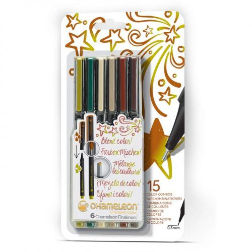 Chameleon Fineliners 6 pack Nature Colours (NEW)