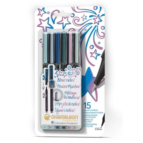 Chameleon Fineliners 6 pack Cool Colours (NEW)