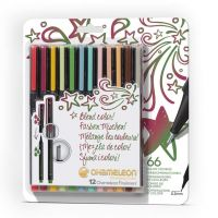 Chameleon Fineliners 12 pack Designer Colours (NEW)