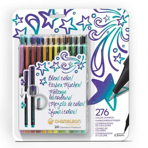 Chameleon Fineliners 24 pack Bold Colours (NEW)