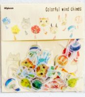 Stickers - Colourful Wind Chimes (40pcs) (NEW)