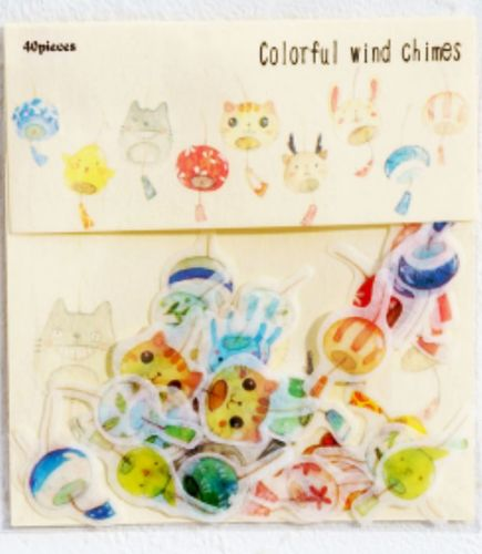 Stickers - Colourful Wind Chimes (40pcs)