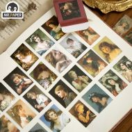 Stickers -  Girl Oil Paintings (50pcs box) (NEW)