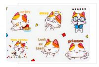Stickers - Happy Life of Orange Cat PVC (6 sheets)