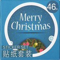 Stickers - Merry Christmas Blue (46pcs box)