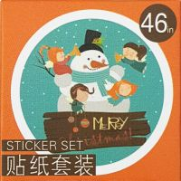 Stickers - Snowman Orange (46pcs box)