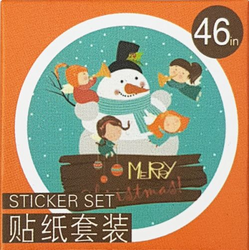 Stickers - Snowman Orange (46pcs box)