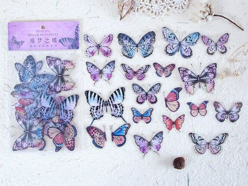 Stickers - Dream Butterfly (40pcs bag) (NEW)