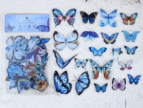 Stickers - Slide Butterfly (40pcs bag) (NEW)