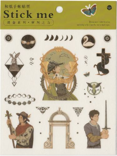 Stickers - Medieval Minstrel (1 sheet, 15pcs approx.)