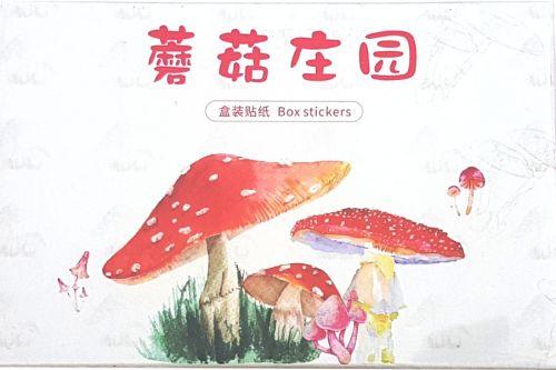 Stickers - Mushroom Red (60pcs)