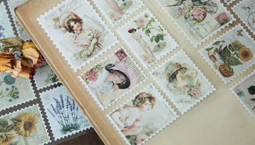 Stickers - Retro Stamps (3 sheets)