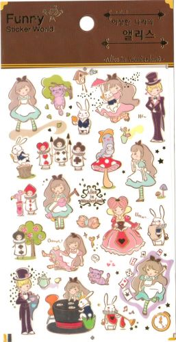Stickers - Alice In Wonderland (1 sheet, 30pcs approx.)