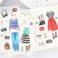 Stickers - Bag - Clothes (6 sheets) (NEW)