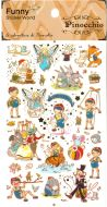 Stickers - Pinocchio (1 sheet, 30pcs approx.)