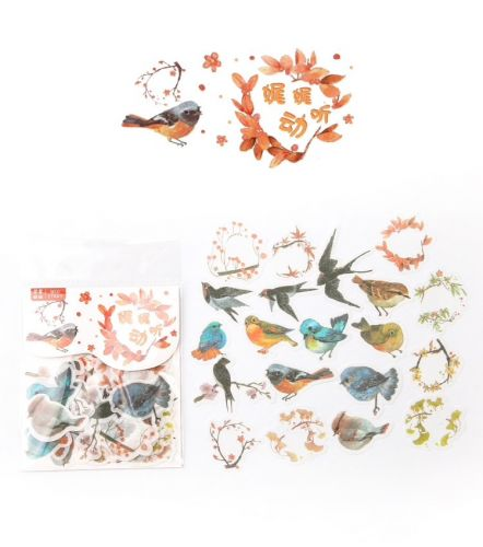 Stickers - Birds (40pcs bag)
